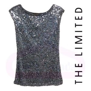 The Limited•Silver Sequin Sleeveless Top